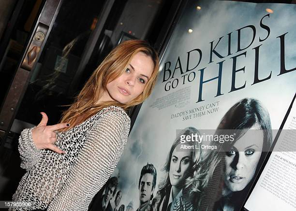 """Actress Augie Duke arrives for the Screening Of """"Bad Kids Go To Hell"""" held at Laemmle Music Hall Theater on December 7, 2012 in Beverly Hills,..."""