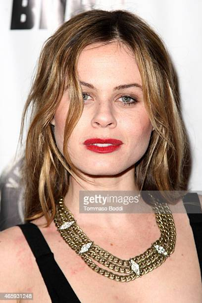 Actress Augie Duke attends the Ghoul Los Angeles premiere held at Crest Theatre on March 11 2015 in Westwood California