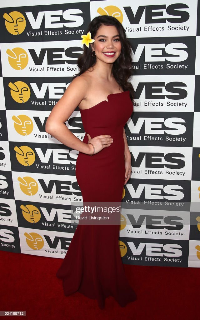 Actress Auli'i Cravalho attends the 15th Annual Visual Effects Society Awards at The Beverly Hilton Hotel on February 7, 2017 in Beverly Hills, California.