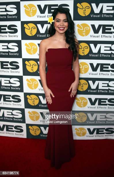 Actress Auli'i Cravalho attends the 15th Annual Visual Effects Society Awards at The Beverly Hilton Hotel on February 7 2017 in Beverly Hills...