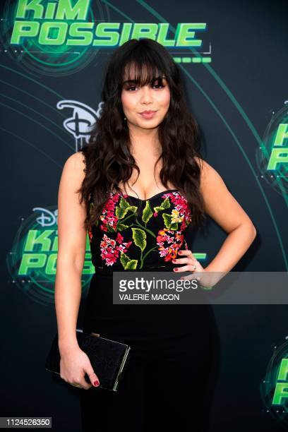 Actress Auli'i Cravalho attends the world premiere of Disney channel original movie 'Kim Possible' in North Hollywood California on February 12 2019
