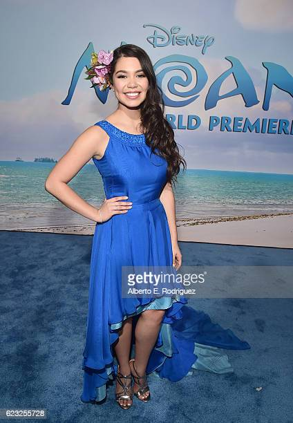 Actress Auli'i Cravalho attends The World Premiere of Disney's MOANA at the El Capitan Theatre on Monday November 14 2016 in Hollywood CA