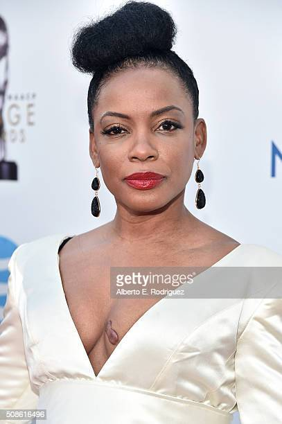 Actress Aunjanue Ellis attends the 47th NAACP Image Awards presented by TV One at Pasadena Civic Auditorium on February 5, 2016 in Pasadena,...