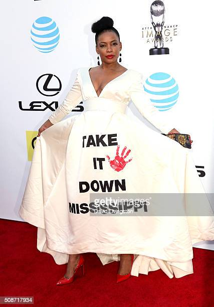 Actress Aunjanue Ellis attends the 47th NAACP Image Awards presented by TV One at Pasadena Civic Auditorium on February 5 2016 in Pasadena California