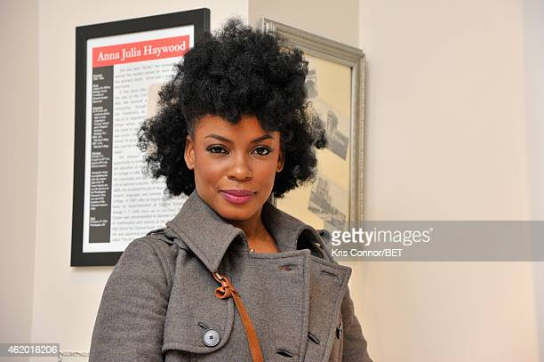 "Actress Aunjanue Ellis attends ""The Book of Negroes"" sceening at Dunbar High School on January 22, 2015 in Washington, DC."