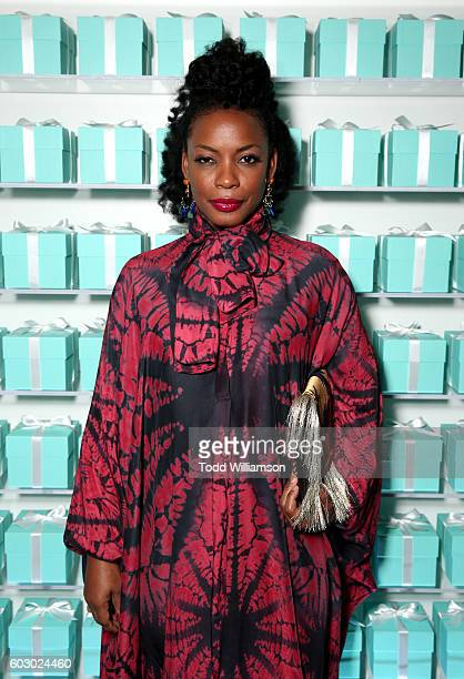 Actress Aunjanue Ellis attends the Vanity Fair and Tiffany & Co. Private dinner toasting Lupita Nyong'o and celebrating Legendary Style at Shangri-La...