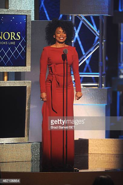 Actress Aunjanue Ellis speaks onstage during The BET Honors 2015 at Warner Theatre on January 24 2015 in Washington DC