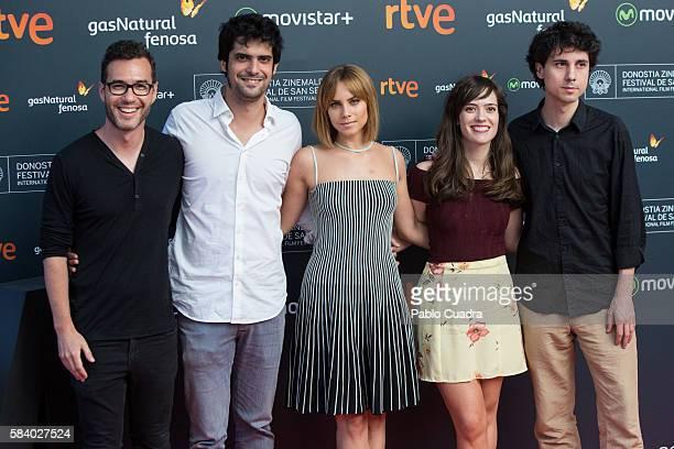 Actress Aura Garrido and Jonas Trueba attends the 64th San Sebastian International Film Festival press conference at Academia de Cine on July 28 2016...