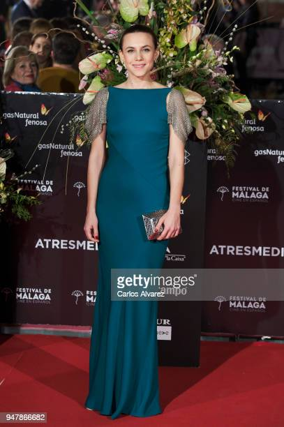 Actress Aura Garrido attends 'Las Distancias' premiere during the 21th Malaga Film Festival at the Cervantes Theater on April 17 2018 in Malaga Spain