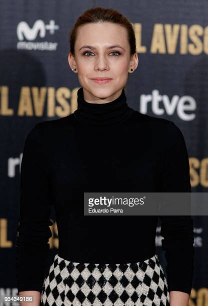 Actress Aura Garrido attends the 'El Aviso' photocall at Urso hotel on March 19 2018 in Madrid Spain