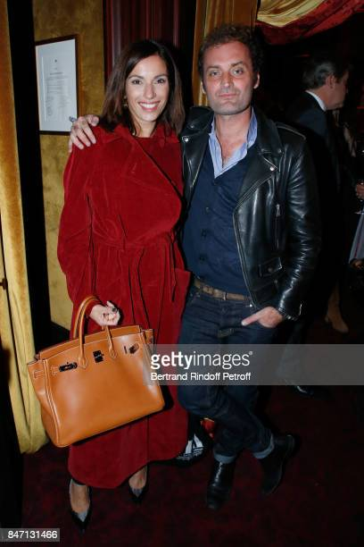 """Actress Aure Atika and journalist Augustin Trapenard attend the Reopening of the Barriere Hotel """"The Fouquet's"""", decorated by Jacques Garcia, at..."""