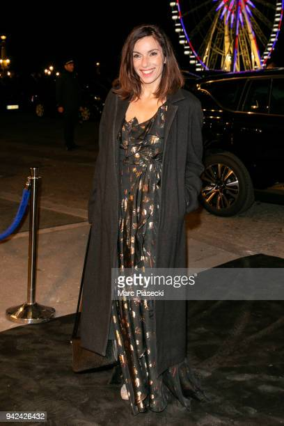 Actress Aure Atika arrives to attend the 'Madame Figaro' dinner at Automobile Club de France on April 5 2018 in Paris France