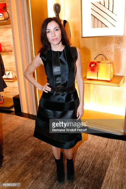 Actress Aure Atika attend the Cocktail Party for the Presentation of Fendi 'Bag Bugs' held at Fendy store of Avenue Montaigne on December 12 2013 in...