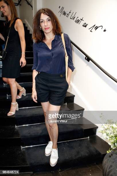 Actress Aure Atika attends Lili et Mimi sont au Premier at Montaigne Market on June 26 2018 in Paris France