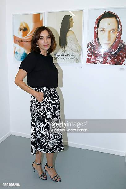 Actress Aure Atika attends the 55 Politiques Exhibition of Stephanie Murat's Pictures Opening Party at Galerie Dupin on June 9 2016 in Paris France