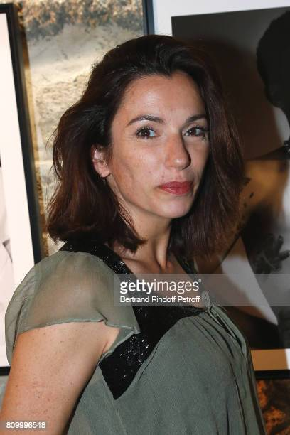 Actress Aure Atika attends the Don't Take it Personally by Jade Jagger JeanBaptiste Pauchard Exhibition Party on July 6 2017 in Paris France