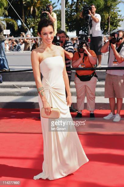 Actress Aure Atika attends the Pater premiere during the 64th Annual Cannes Film Festival at Palais des Festivals on May 17 2011 in Cannes France