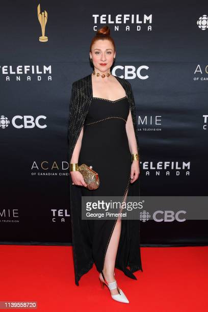 Actress Aurora Browne attends the 2019 Canadian Screen Awards Broadcast Gala at Sony Centre for the Performing Arts on March 31 2019 in Toronto Canada