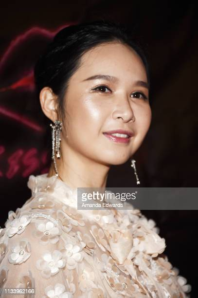 Actress Aurora OuYang arrives at the Los Angeles premiere of 'KISS KISS' at the Ahrya Fine Arts Theater by Laemmle on March 05 2019 in Beverly Hills...