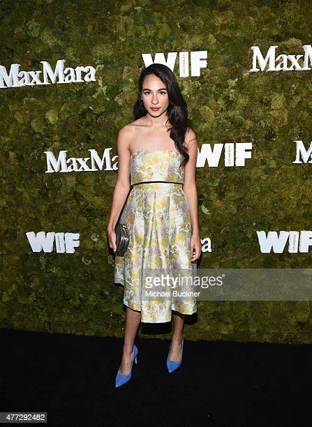 Actress Aurora Perrineau attends The Max Mara 2015 Women In Film Face Of The Future event at Chateau Marmont on June 15 2015 in West Hollywood...