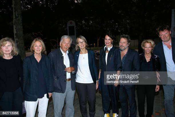 Actress Aurore Clement Marie Dabadie President of Cinematheque Francaise Constantin CostaGavras Minister of Culture Francoise Nyssen actress Jeanne...