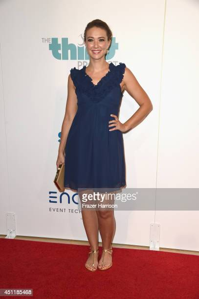 Actress Austin Highsmith arrives at the 5th Annual Thirst Gala Hosted By Jennifer Garner In Partnership With Skyo And Relativity's 'Earth To Echo' at...