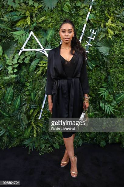 Actress Autumn Ajirotutu attends Ashley North's Launch of 'AN STYLE' Candles at IceLink Boutique and Rooftop Lounge on July 11 2018 in West Hollywood...