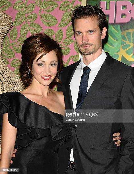 Actress Autumn Reeser and husband Jesse Warren attend HBO's post Emmy Awards party at Pacific Design Center on August 29 2010 in West Hollywood...