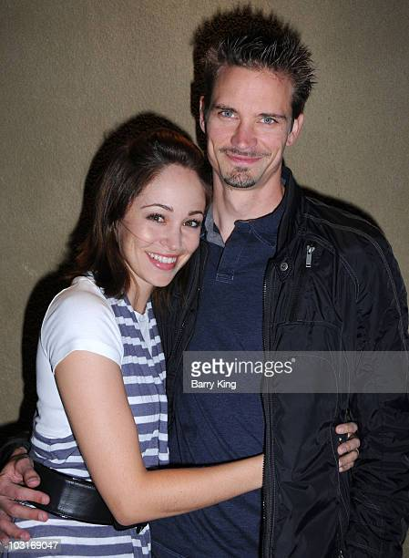 "Actress Autumn Reeser and husband writer/director Jesse Warren attend ""Jawbreaker"" Musical performance at Bare on July 29, 2010 in Los Angeles,..."