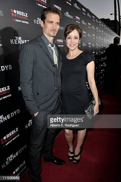 Actress Autumn Reeser and Jesse Warren arrive at The ReelzChannel World premiere of The Kennedys at AMPAS Samuel Goldwyn Theater on March 28 2011 in...