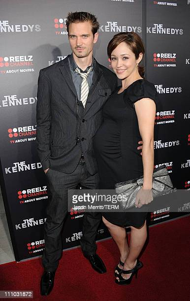 Actress Autumn Reeser and Jesse Warren arrive at The ReelzChannel World premiere of 'The Kennedys' at AMPAS Samuel Goldwyn Theater on March 28, 2011...