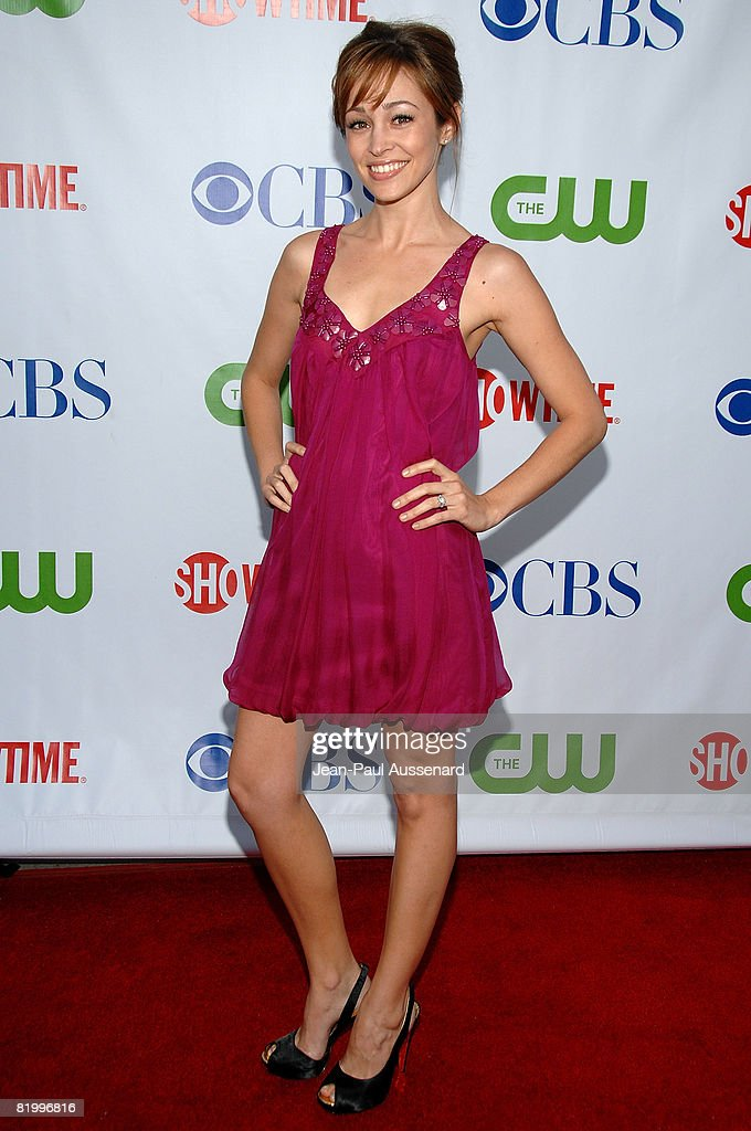 Actress Autumn Reeser arrives at the CBS, CW and Showtime Press Tour Stars Party held at Boulevard 3 on July 18th, 2008 in Hollywood, California.