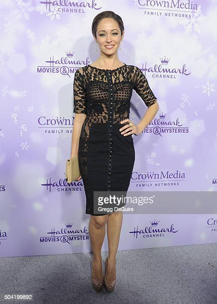 Actress Autumn Reeser arrives at the Hallmark Channel and Hallmark Movies and Mysteries Winter 2016 TCA Press Tour at Tournament House on January 8...