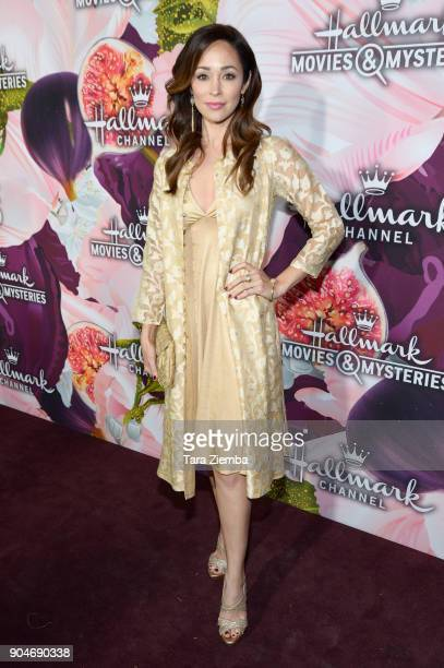 Actress Autumn Reeser attends Hallmark Channel and Hallmark Movies and Mysteries Winter 2018 TCA Press Tour at Tournament House on January 13 2018 in...