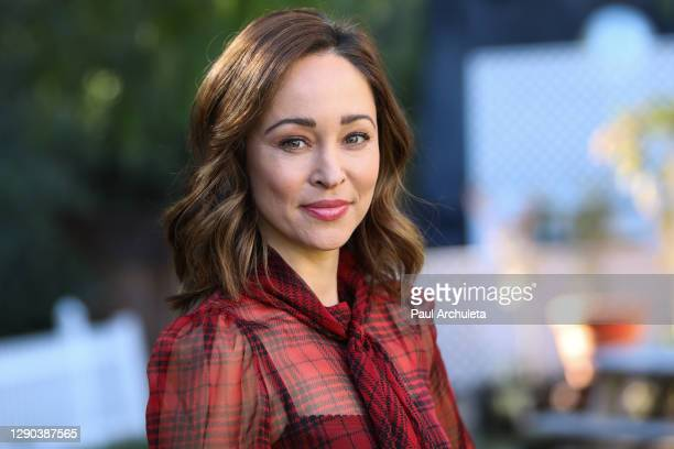 """Actress Autumn Reeser visits Hallmark Channel's """"Home & Family"""" at Universal Studios Hollywood on December 09, 2020 in Universal City, California."""