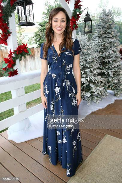 Actress Autumn Reeser visits Hallmark's Home Family at Universal Studios Hollywood on November 16 2017 in Universal City California