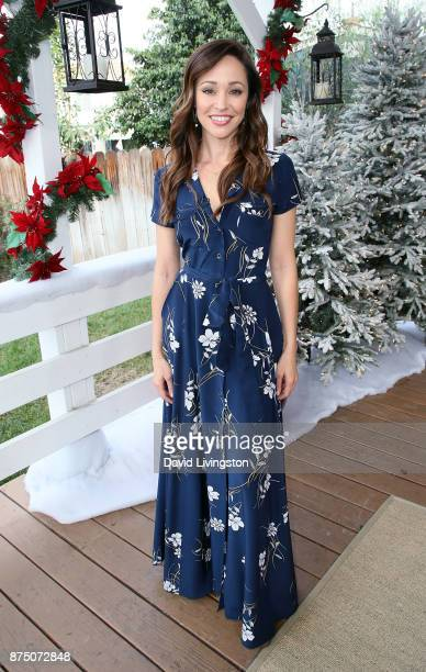 Actress Autumn Reeser visits Hallmark's 'Home Family' at Universal Studios Hollywood on November 16 2017 in Universal City California
