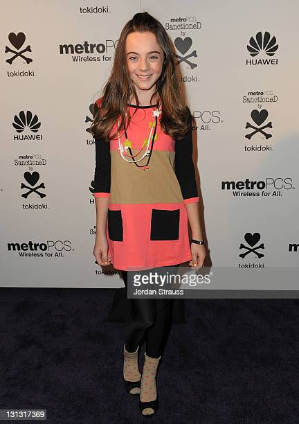 Actress Ava Allan attends the launch of the MetroPCS Huawei M835 sanctioned by tokidoki at the tokidoki flagship store on November 3 2011 in Los...