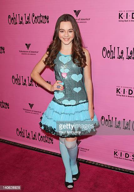 Actress Ava Allan attends the Tutus4Tots Charity Event at the Strengthening Families Volunteers of America Los Angeles on March 3, 2012 in Los...