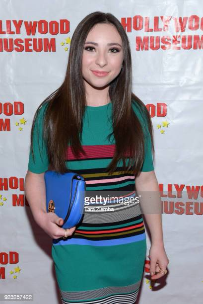 Actress Ava Cantrell attends 'ANNETTE America's Girl Next Door and the Queen of Teen' exhibit opening night preview at The Hollywood Museum on...