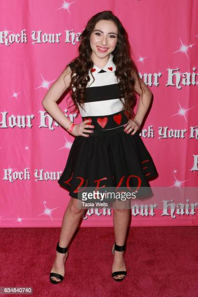 Actress Ava Cantrell attends Rock Your Hair presents Valentine's Rocks at The Avalon Hotel on February 11 2017 in Los Angeles California