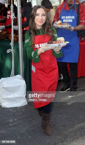 Actress Ava Cantrell attends The Los Angeles Mission's Christmas Celebration On Skid Row held at Los Angeles Mission on December 22 2017 in Los...