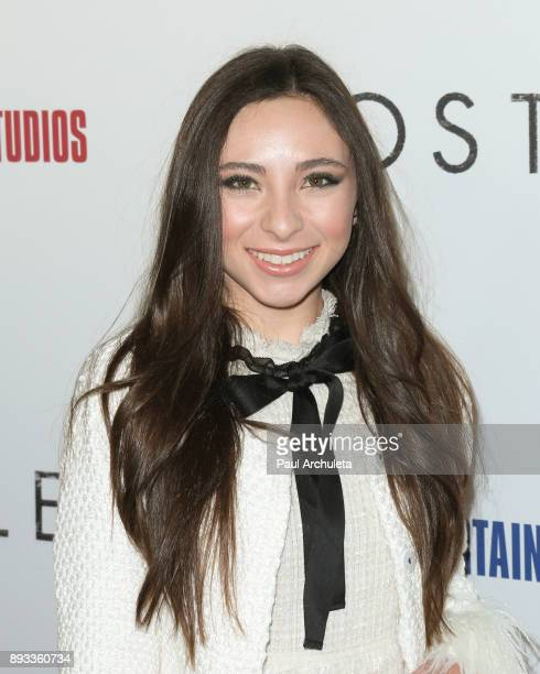 Actress Ava Cantrell attends the premiere of 'Hostiles' at the Samuel Goldwyn Theater on December 14 2017 in Beverly Hills California