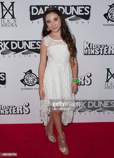 Actress Ava Cantrell attends the premiere of Marvista Entertainment's 'Kids Vs Monsters' at The Egyptian Theatre on September 28 2015 in Los Angeles...