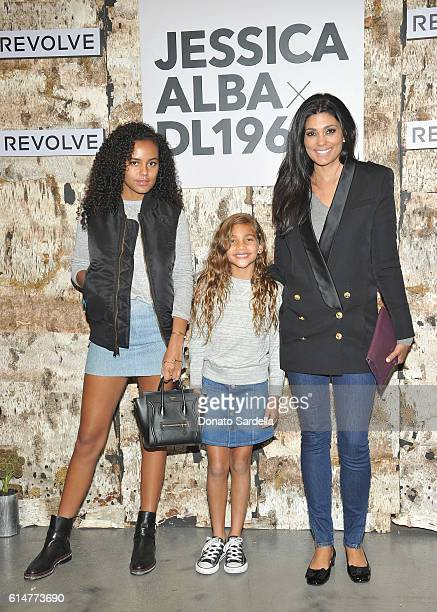 Actress Ava Dash Tallulah Ruth Dash and designer Rachel Roy attend the DL1961 x Jessica Alba Collection Event at the REVOLVE Social Club on October...