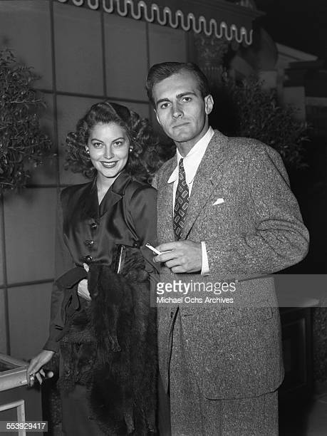 Actress Ava Gardner and actor Helmut Dantine attend an event in Los Angeles California