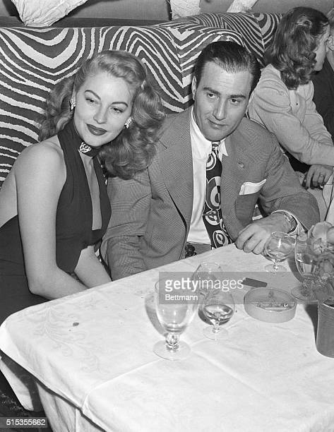 Actress Ava Gardner and Musician Artie Shaw at El Morocco in New York several months before they married