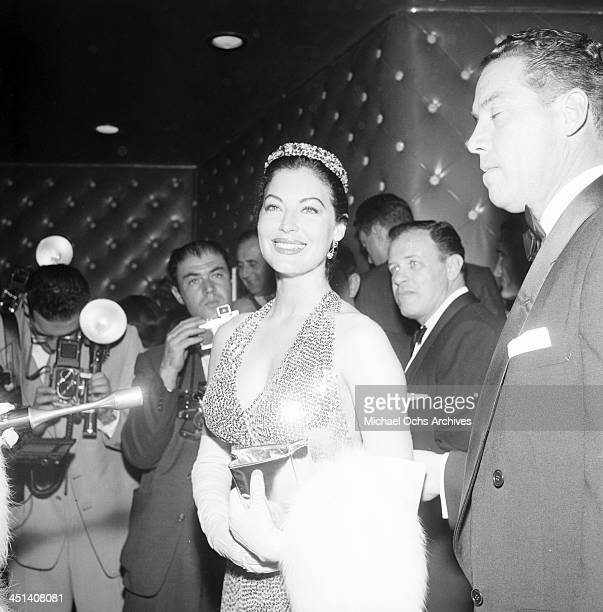 Actress Ava Gardner attends the premiere of The Barefoot Contessa in Los Angeles California