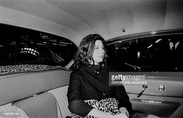Actress Ava Gardner in Paris Sixties