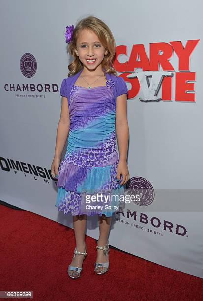 Actress Ava Kolker arrives at the premiere of Scary Movie V presented by Dimension Films in partnership with Lexus and Chambord at the Cinerama Dome...